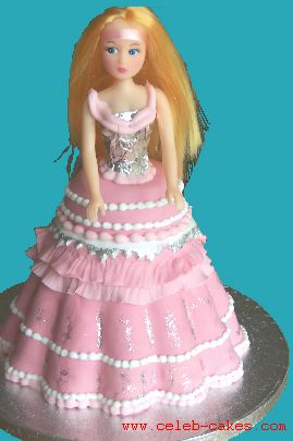 Blonde doll birthday cake
